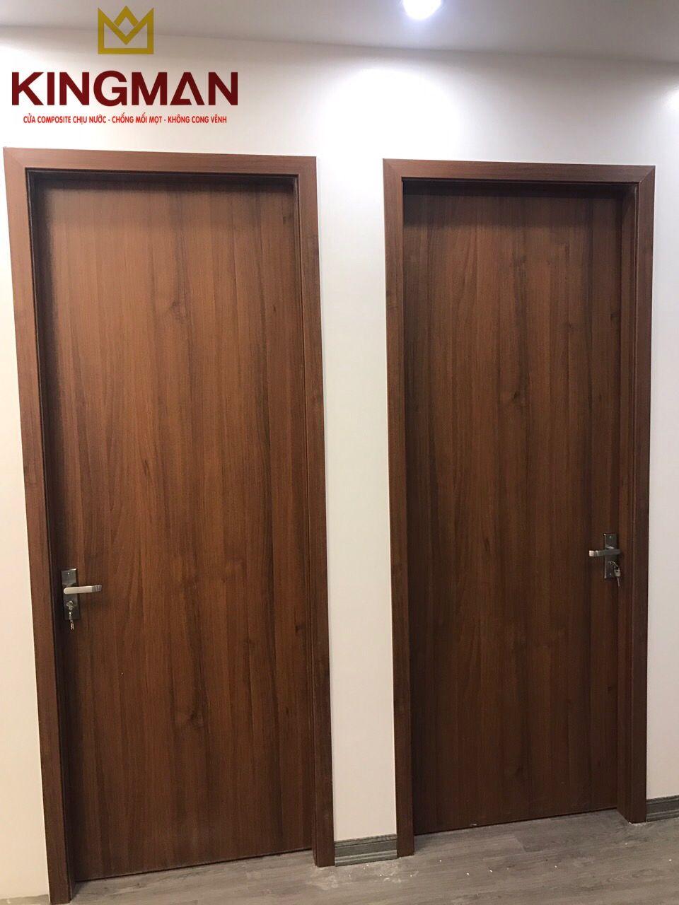 Solid wood plastic composite door