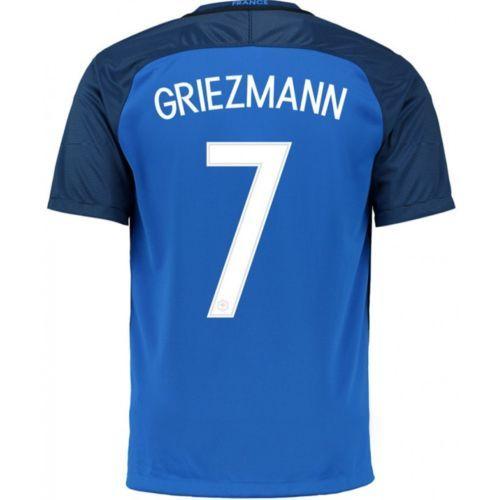 nike nike maillot equipe de france griezmann 2016 2017 euro 2016 domicile football stats. Black Bedroom Furniture Sets. Home Design Ideas