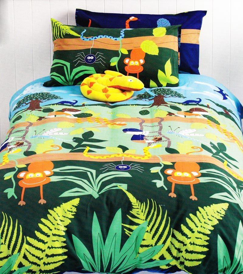Wise Elephant Quilt Cover Set Doona Duvet Girls Jungle Bedding Kids Pink Animals