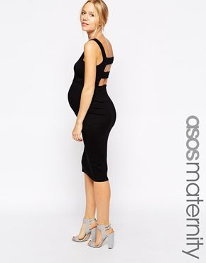 432e5507114 Enlarge ASOS Maternity Body-Conscious Dress With Pini Strap Back