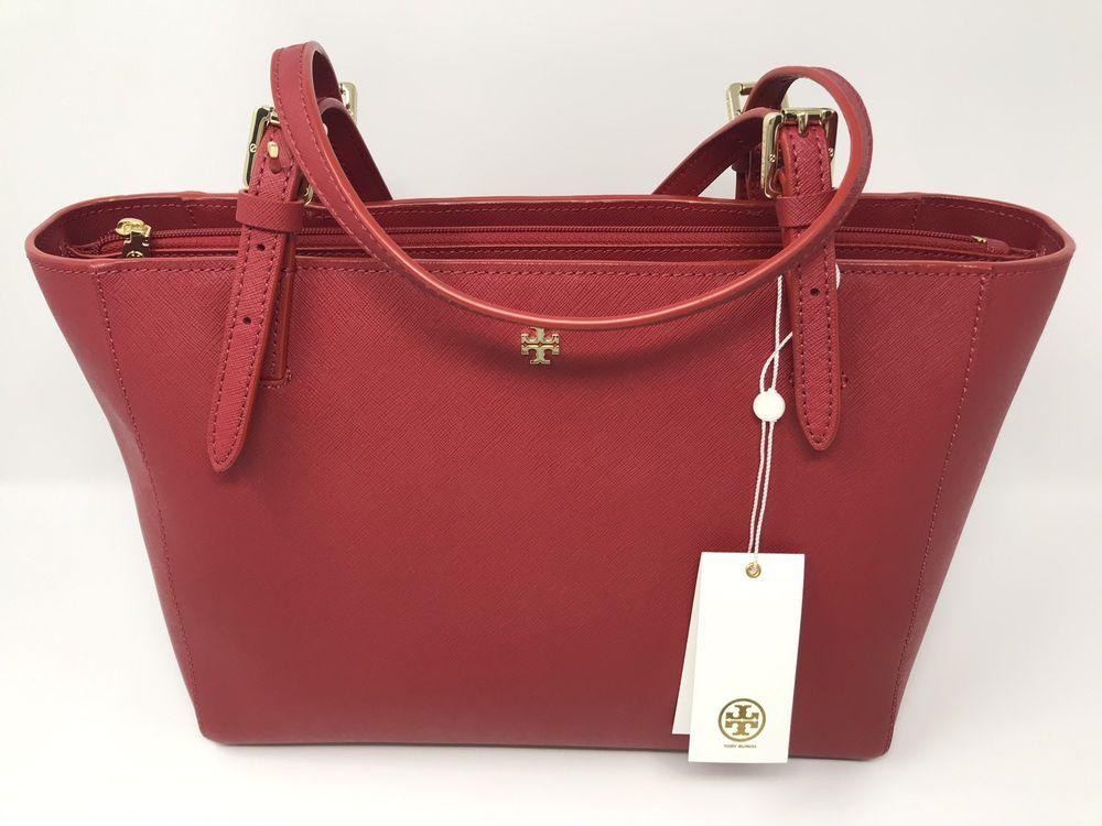8c6c36ff231f NEW TORY BURCH LEATHER YORK SMALL BUCKLE TOTE RED HANDBAG SHOULDER BAG   fashion  clothing  shoes  accessories  womensbagshandbags (ebay link)