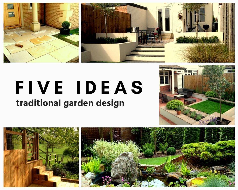 Five Ideas Traditional Garden Design Exeter Devon
