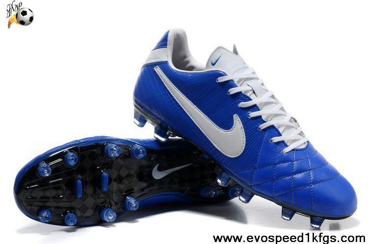 6956abec4b Wholesale Cheap Nike Tiempo Legend IV Elite FG Ocean Blue-White Shoes Shop