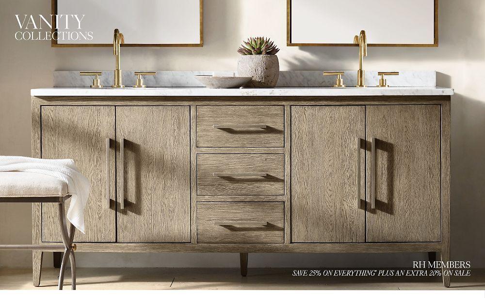 Bath Collections Rh Modern Bathroom Cabinets Cabinet Door Storage Painting Bathroom Cabinets