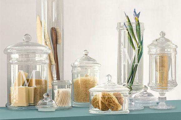 Genial Bathroom Decor Apothecary Jars Usage