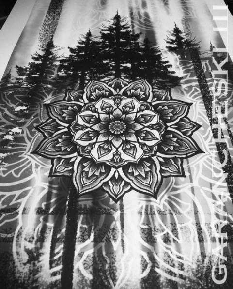 7f9207967 Awesome forest themed mandala drawing for tattoo by John Garancheski at Tattooed  Heart Studios.