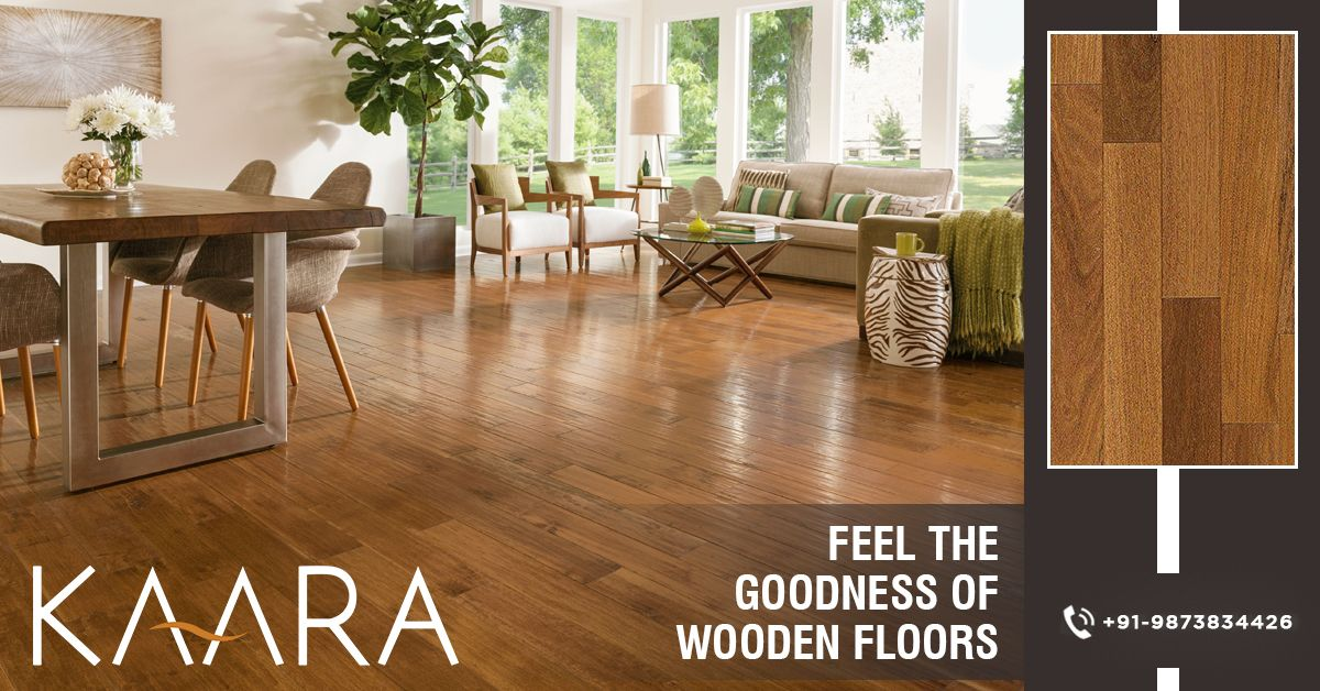 Get the goodness of wooden flooring beneath your feet with a wide range of solid wood flooring by KAARA. To buy, call us at +91-9873834426 OR mail your details at contact@kaaradecor.com #WoodenFlooring #SolidwoodFlooring #Flooring #EngineeredWood #SolidWood #ChevronWood #LaminateWood #kaara #kaaradecor