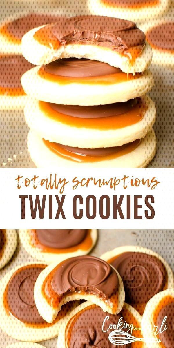 Twix Cookies are a soft sugar crust with a creamy caramel… - Recipes for dinner - Water - -