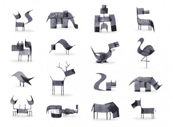 Une identité graphique animal réalisée par l'illustrateur Andrew Fox. | Andrew Fox - Calligraphy Animals