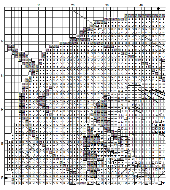 """""""Have The Sun In Your Heart"""" Hummel cross stitch pattern - 1A"""