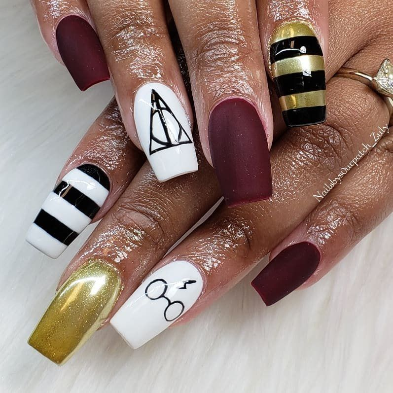 Harry Potter Nail Art Ideas For Women Harry Potter Nails Harry