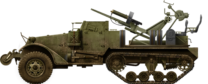 T28E1AA Gun HalfTruck Military WW12 Trucks, Support