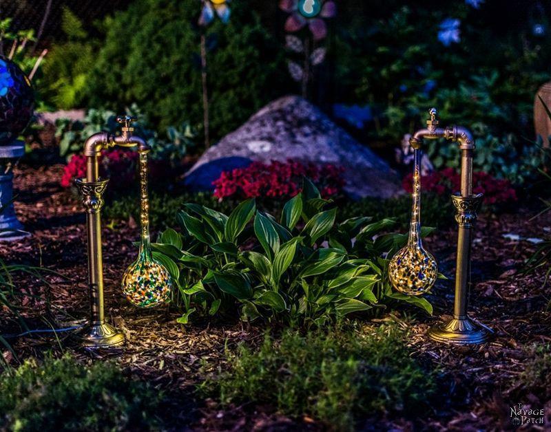 DIY Waterdrop Solar Lights Iluminación de jardín, Jardín y Foco - iluminacion jardin