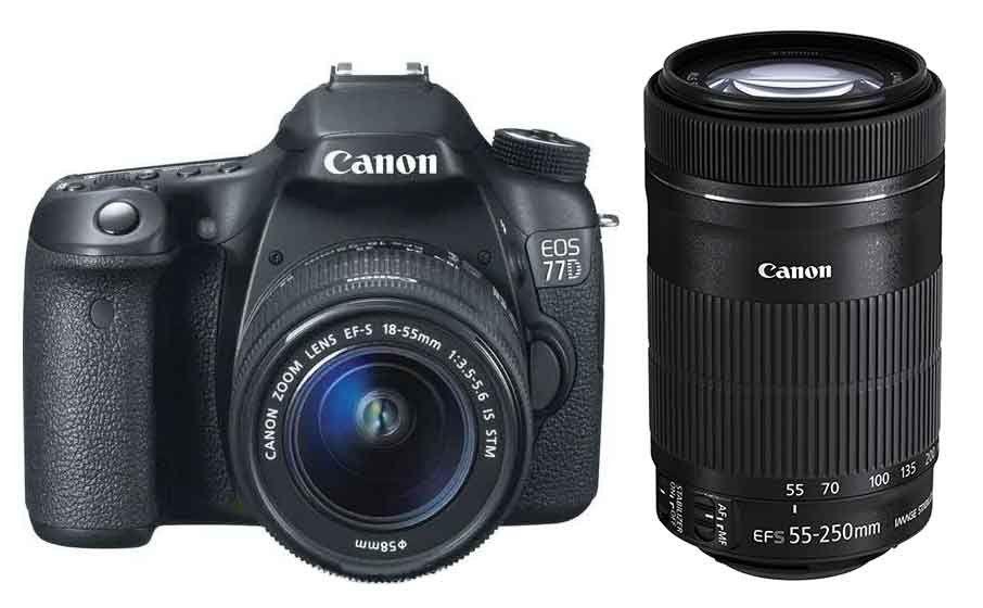 Canon 77d Dslr Camera Body Ef S 55 250mm F 4 5 6 Is Stm Lens Dslr Camera Camera Lenses Canon Cameras And Accessories