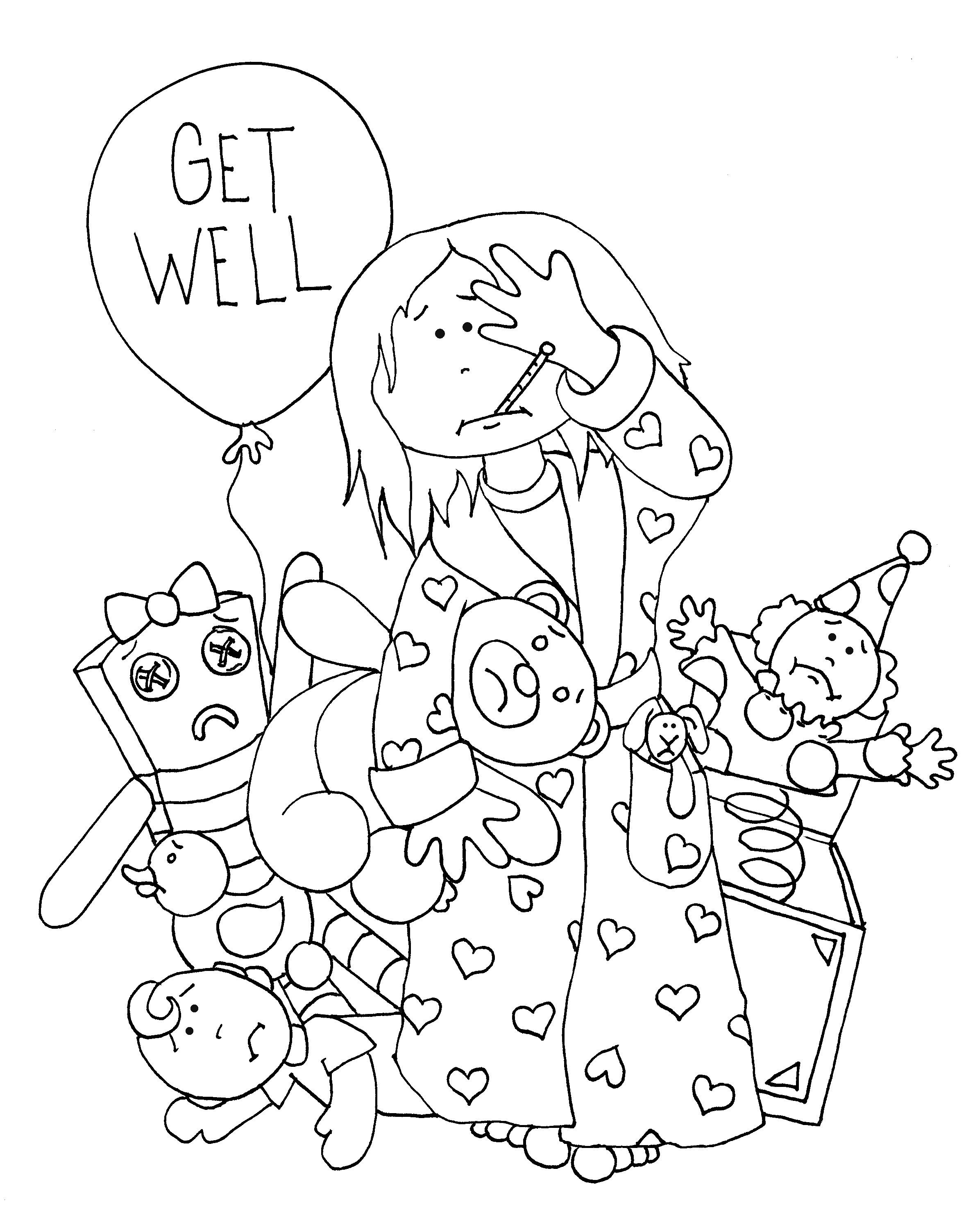 get well png 2 358 3 006 pixels rubber clear digi stamps