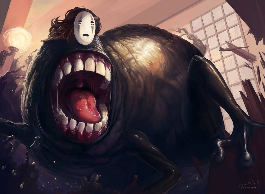 Spirited Away No Face By Cyangorilla On Deviantart Spirited Away Face Face Aesthetic