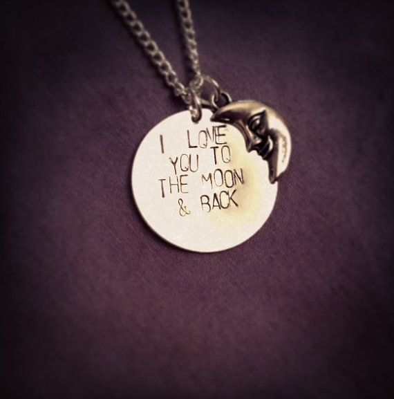 6cd385adc0 I love you to the moon and back hand stamped by StampedLoveLetters Gift,  Gift Ideas, Unique, Custom, Fashion, Quotes