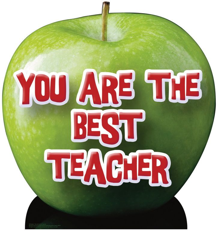 You Are The Best Teacher Apple Life-Size Cardboard Standee 948