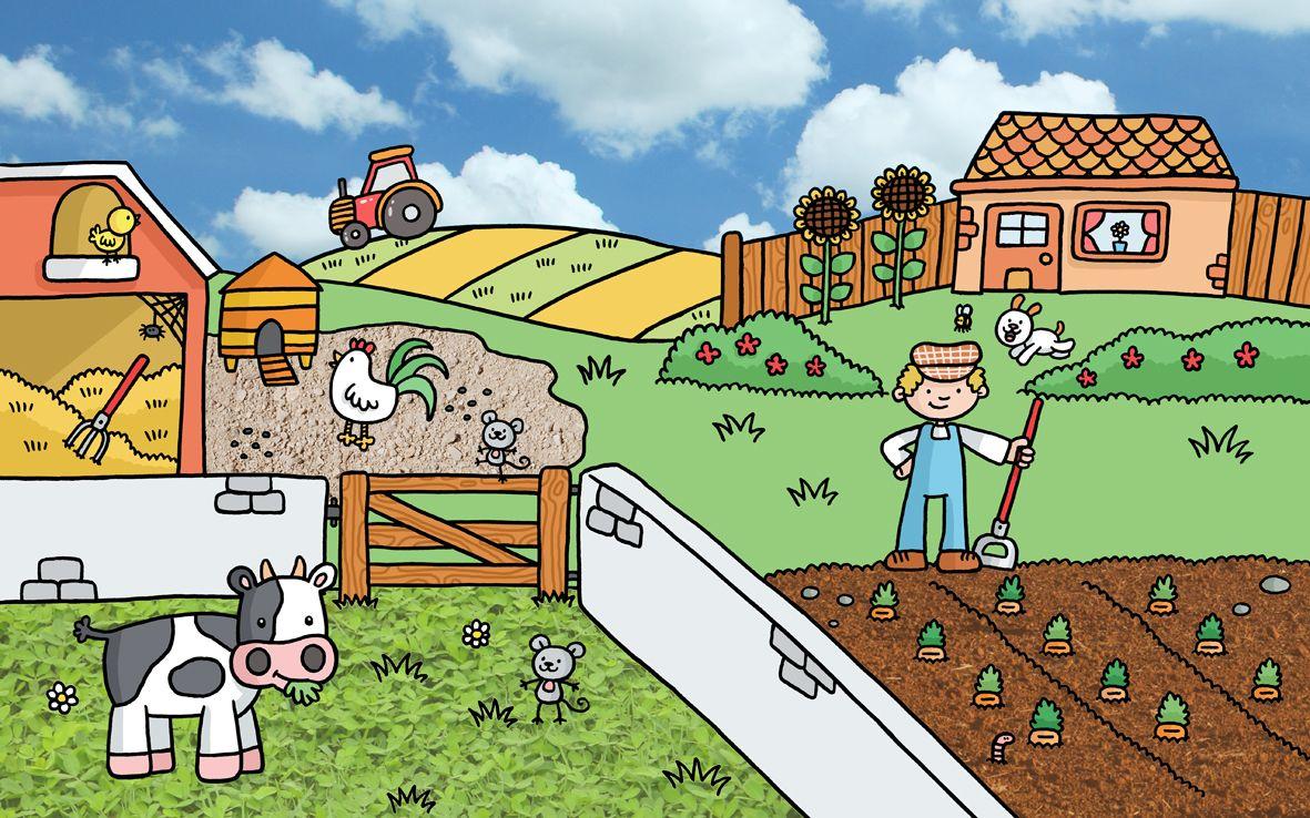 Praatplaat boerderij / farm