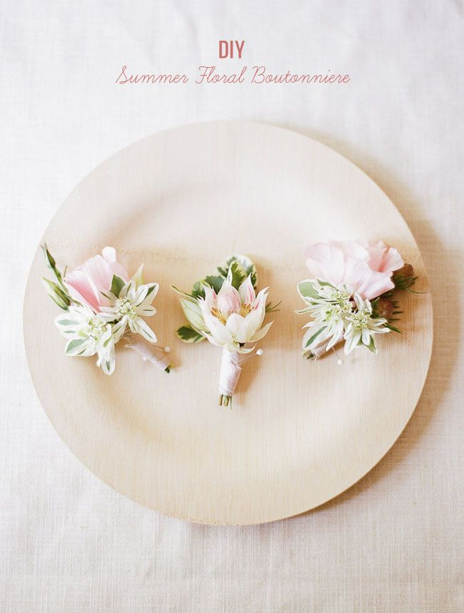 #DIY #summer floral boutonniere-great for a #wedding!