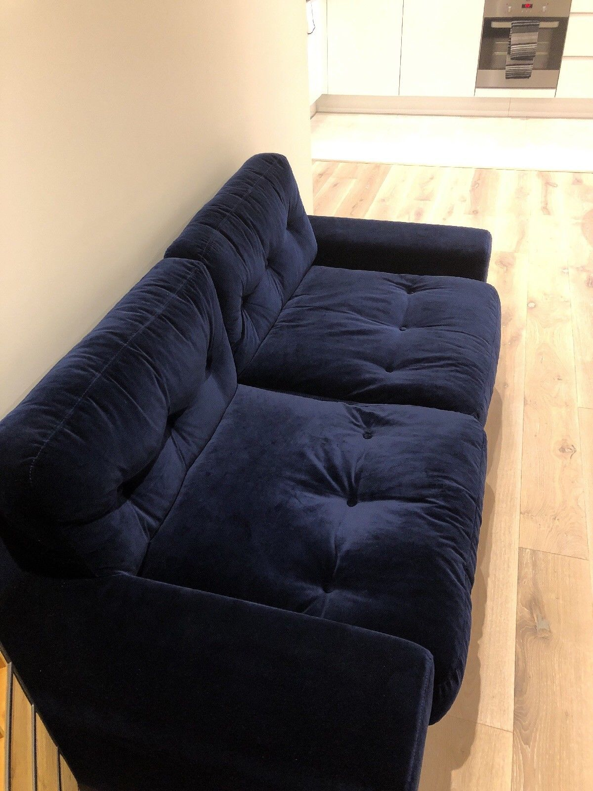 Habitat Hendricks 3 Seater Sofa Velvet Blue Ebay Velvet Sofa 3 Seater Sofa Sofa