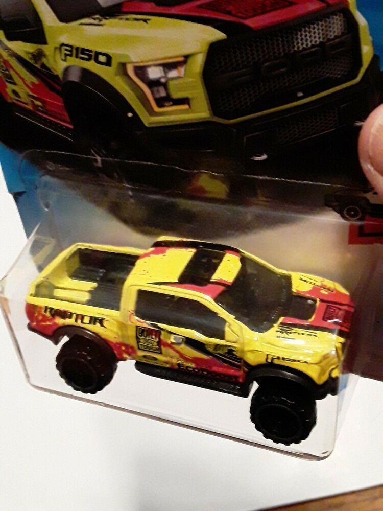 2017 Mattel Hot Wheels '17 Ford F-150 Raptor Yellow Pick UP Truck 1:64 Diecast U