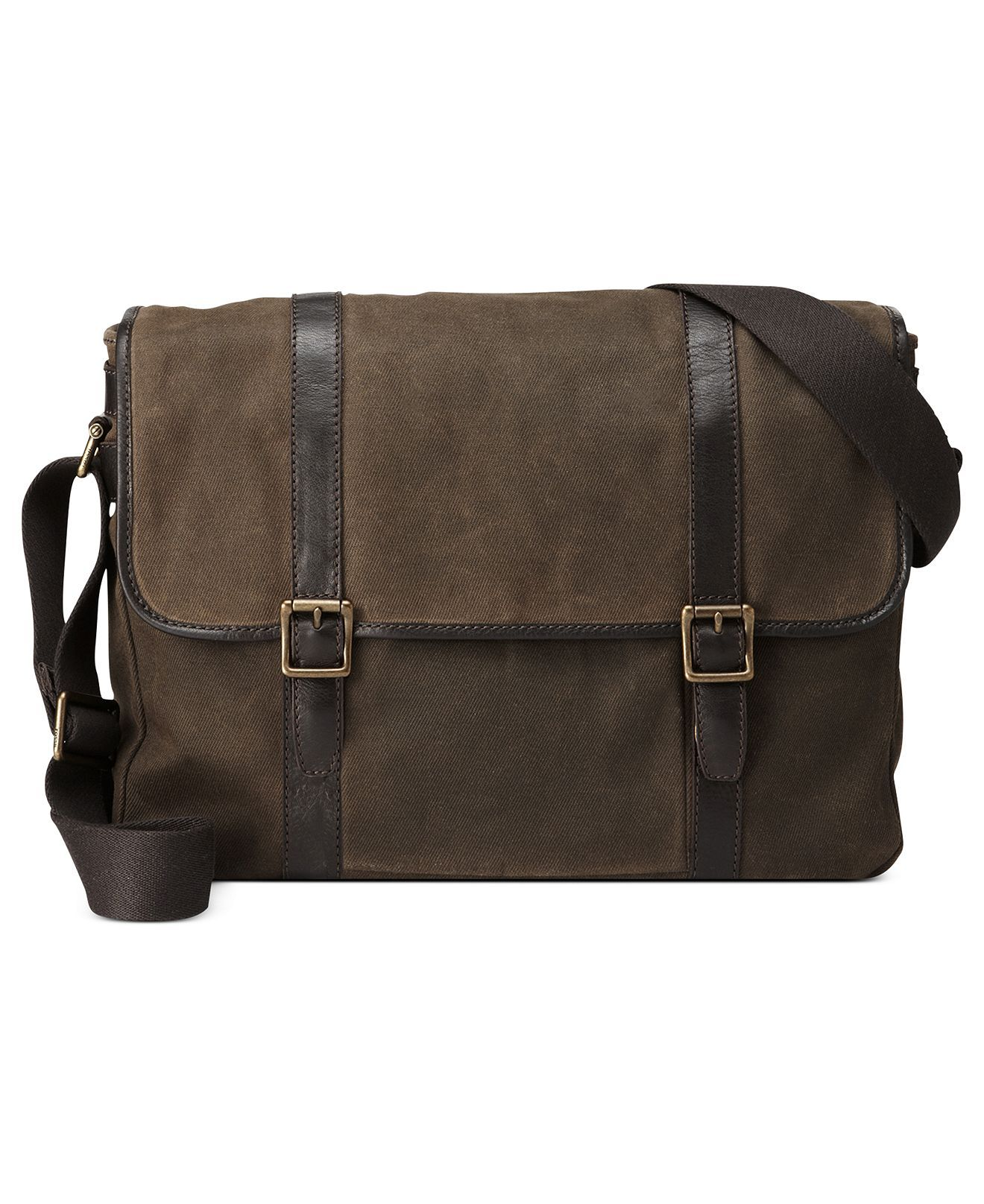 eac4c576d7 Fossil Bags, Estate Calvary Twill East West Messenger Bag - Bags &  Backpacks - Men - Macy's