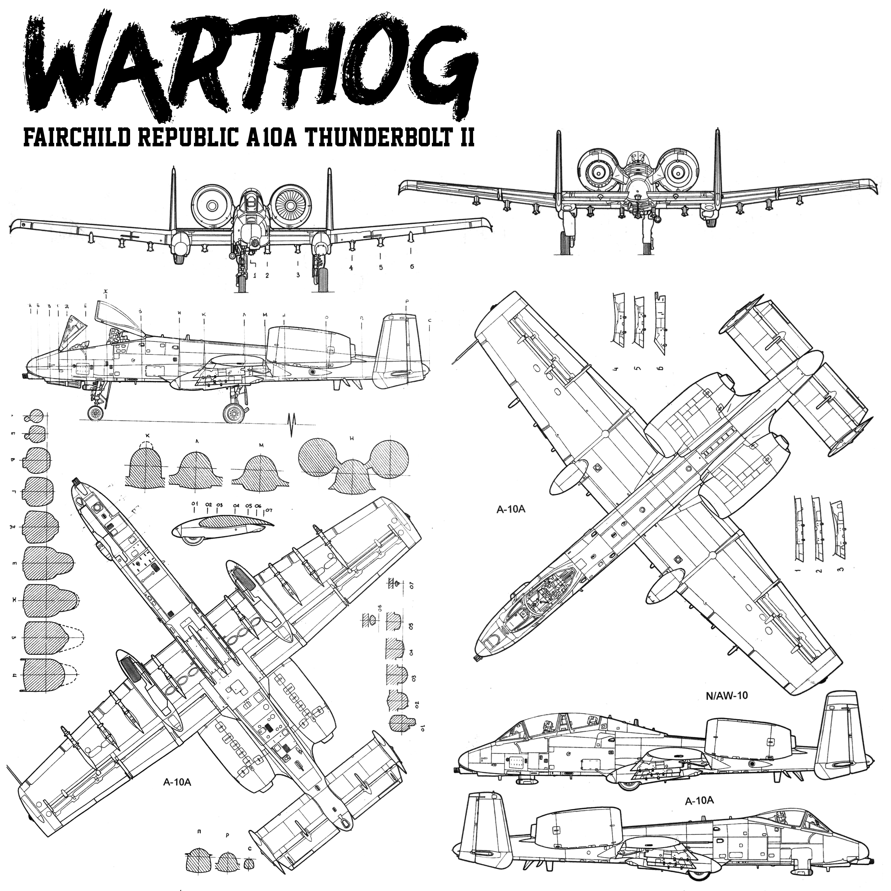 Warthog Usaf Fairchild Republic A 10 Thunderbolt Ii