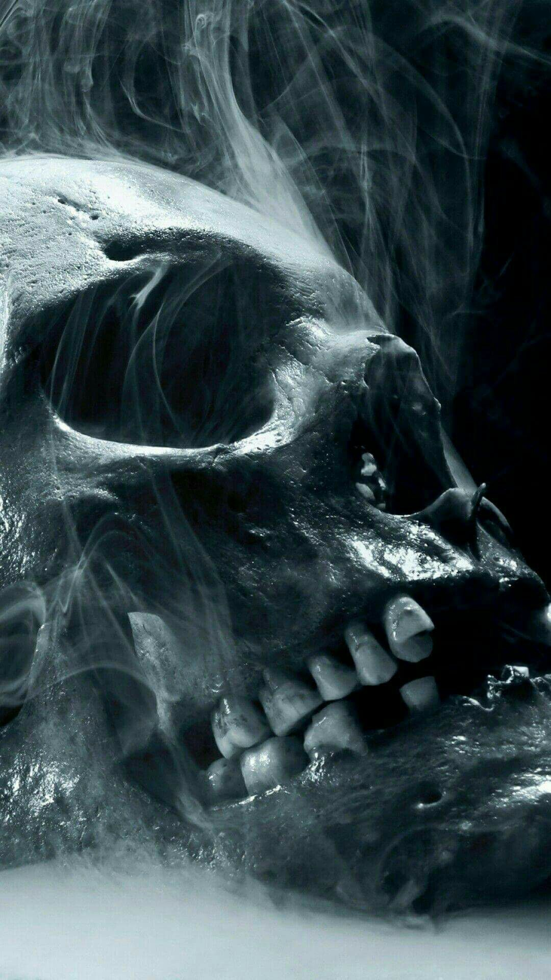 Flesh is overrated Skull wallpaper, Scary wallpaper