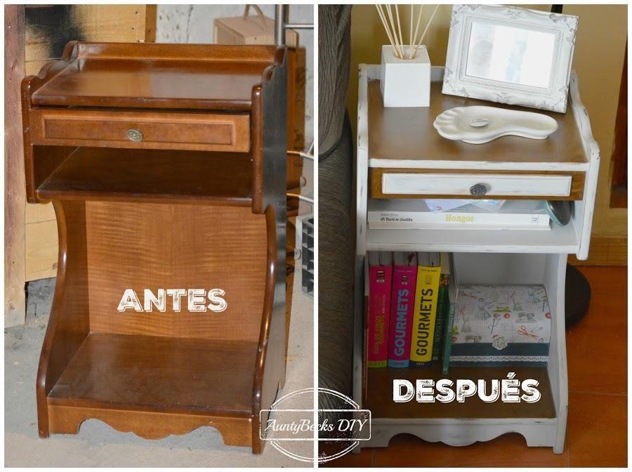 El antes y el precioso despu s de una viaje telefonera for Pintar muebles barnizados