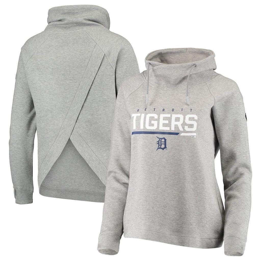 Women S Levelwear Heathered Gray Detroit Tigers Craze Open Back Funnel Neck Pullover Sweatshirt In 2020 Sweatshirts Trendy Sweatshirt Pullover Sweatshirt [ 1024 x 1024 Pixel ]