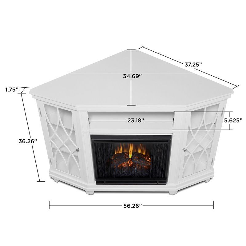 Real Flame Lynette Corner Fireplace Tv Stand In White In 2020