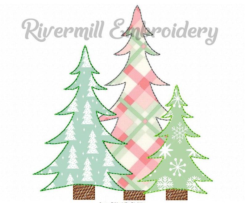 Raggy Applique Trio Of Trees Machine Embroidery Design 4 Etsy Machine Embroidery Designs Machine Embroidery Embroidery Designs