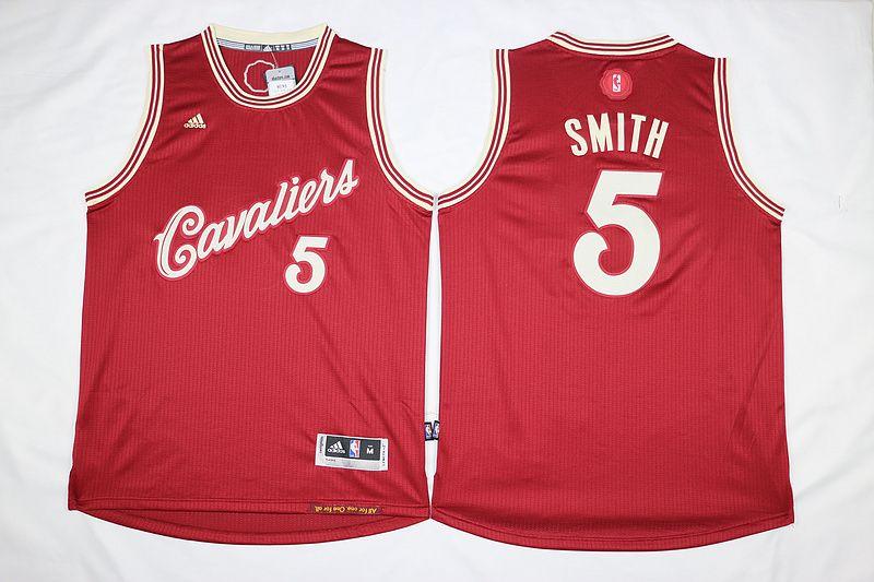 5f6b1594390 Cleveland Cavaliers  5 J.R. Smith Burgundy Christmas Day Swingman Stitched  Jersey