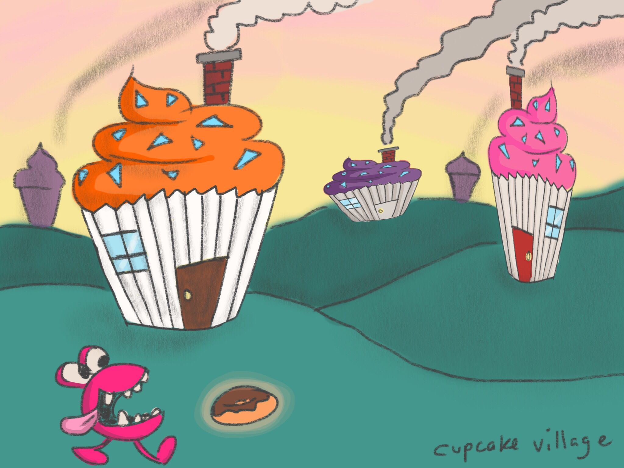 Nomster Concept Art Cupcake Village Nomsters Cupcake Art