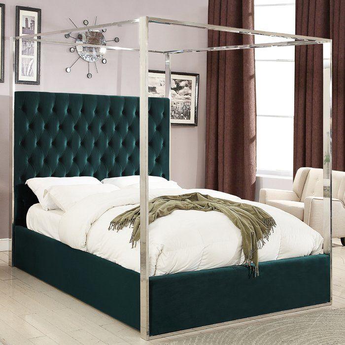 Pamala Upholstered Canopy Bed Upholstered Platform Bed