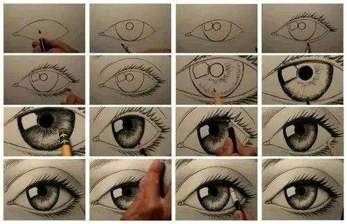 Immagine di eyes, eye, and drawing