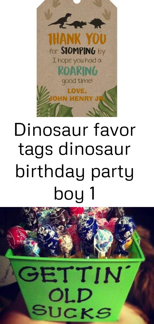 Dinosaur favor tags dinosaur birthday party boy 1 #disneykitchen