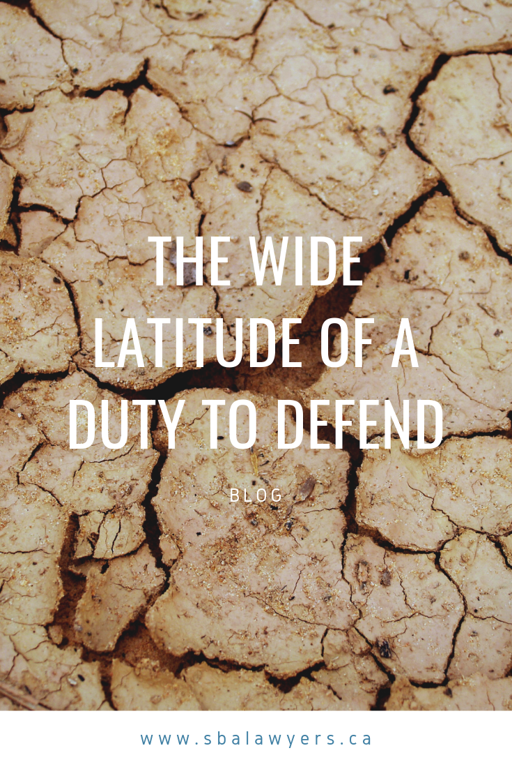 The Wide Latitude Of A Duty To Defend Law Blog Personal Insurance Court Of Appeals