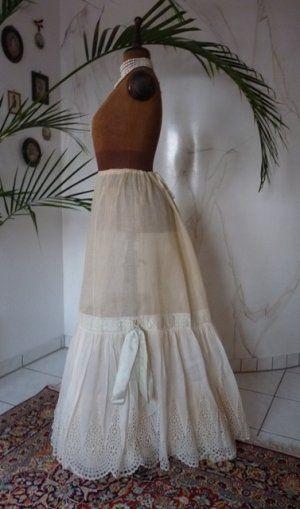 Historic linen skirt historical petticoat Tailored Underskirt
