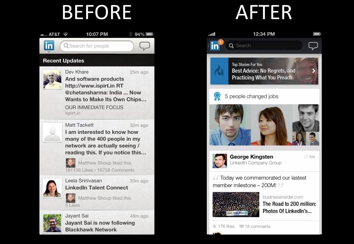 LinkedIn Updates Mobile App, Experiments With Ads Mobile