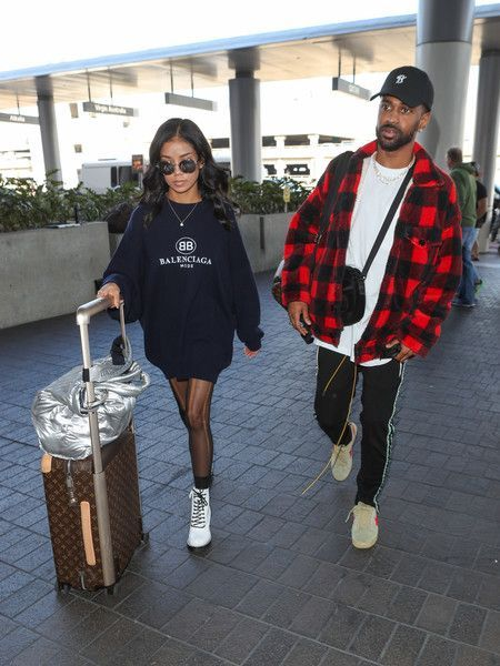 Big Sean Photos - 197 of 1551 Photos: Jhene Aiko and Big Sean at LAX #jheneaiko Big Sean Photos - Jhene Aiko and Big Sean is seen at Los Angeles International Airport. - Jhene Aiko and Big Sean at LAX #jheneaiko