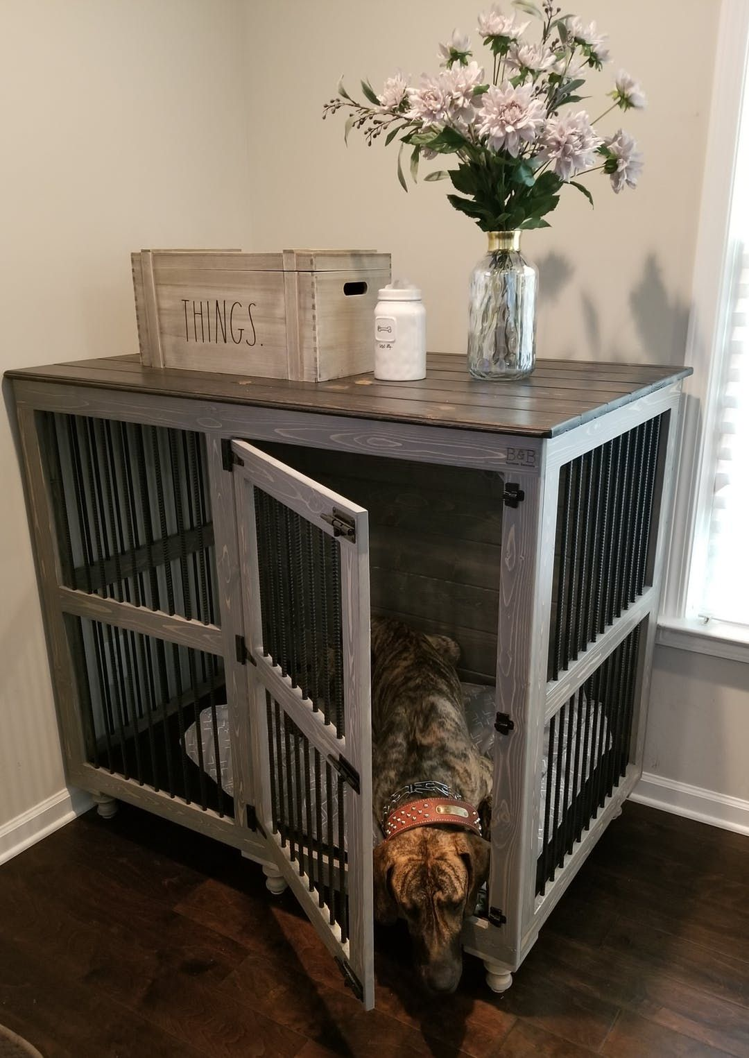 Great Dane Den Dog Crate Furniture Diy Dog Kennel Crate Furniture