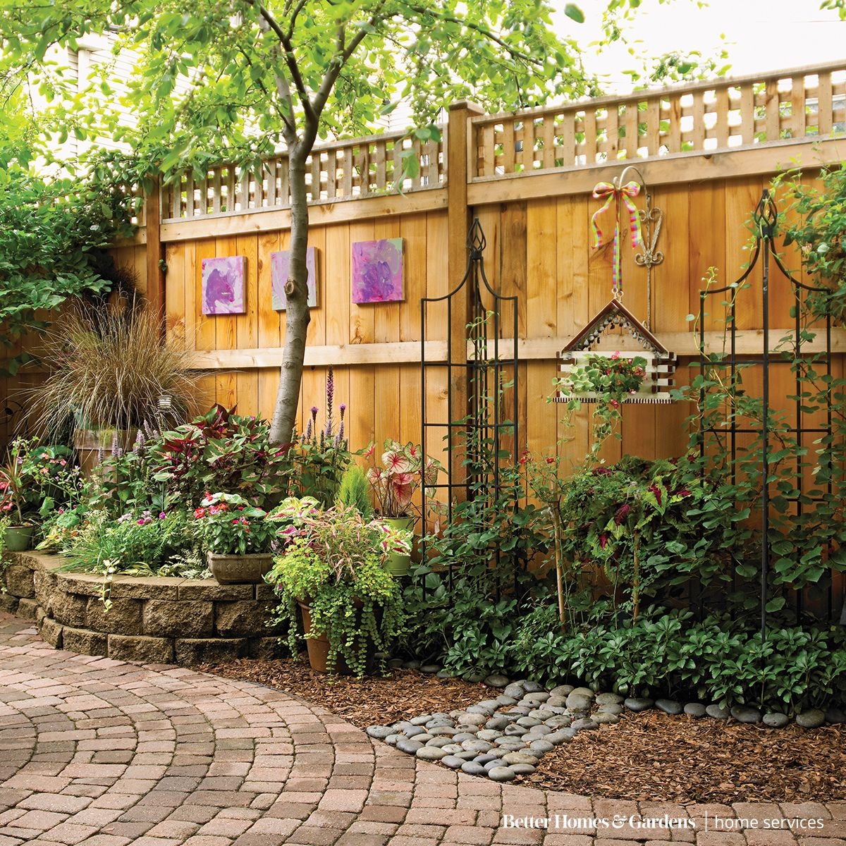 say goodbye to drab fencing and refresh your yard with a stylish