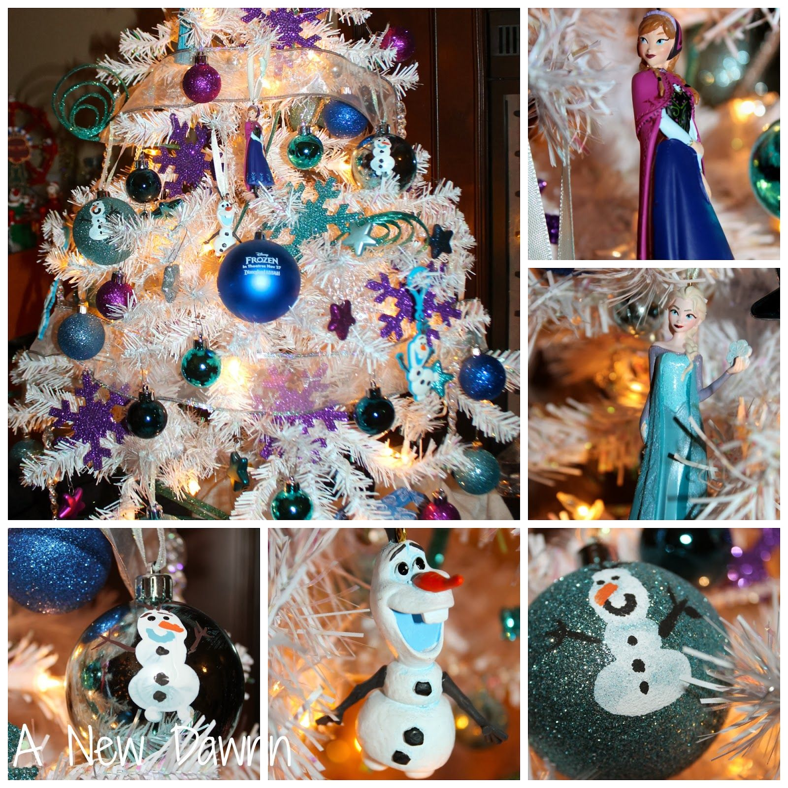 Disney's Frozen themed Christmas tree with handmade ornaments ...