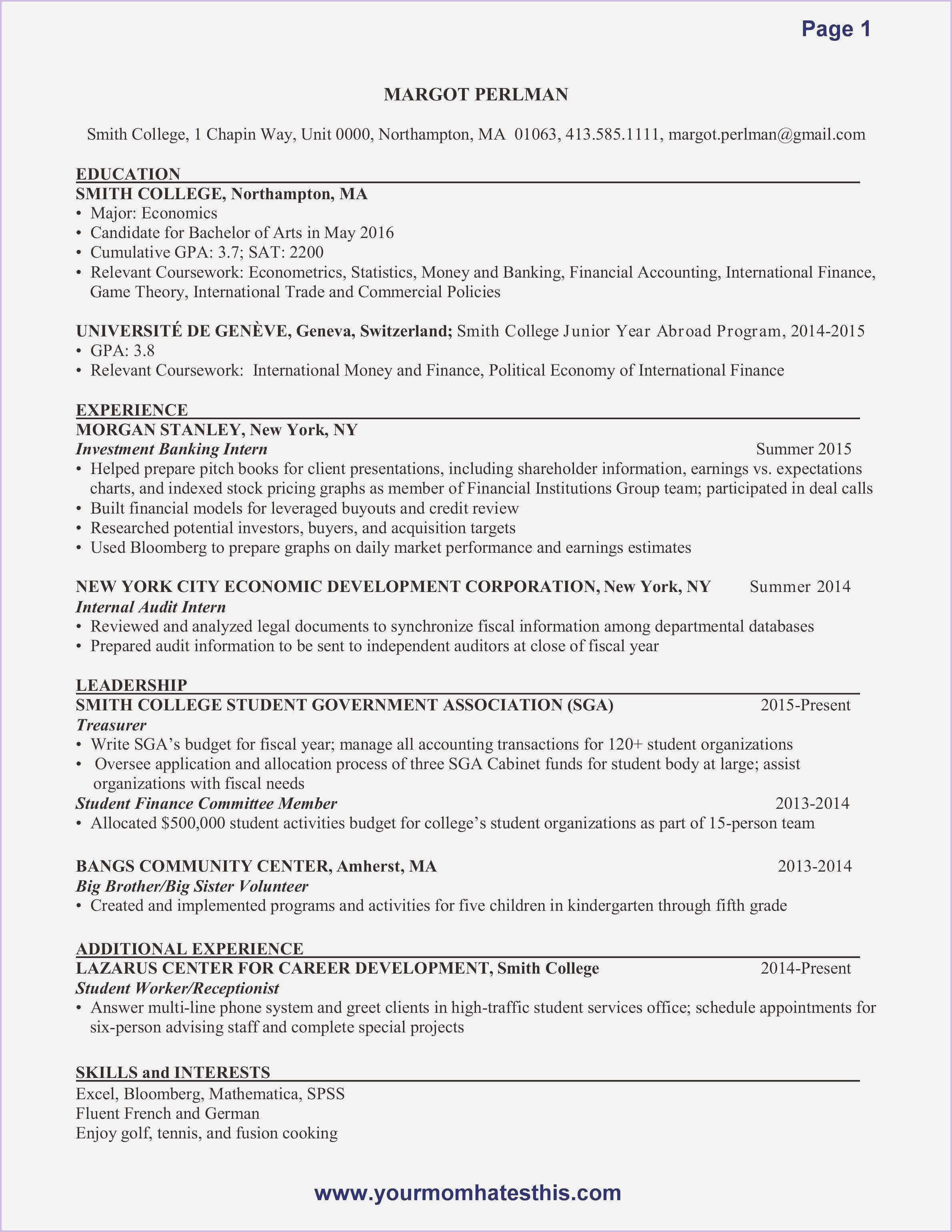 Internship Resume Sample Resume Examples Internship Resume Resume Skills