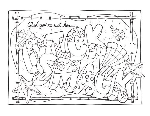 Free Printable Coloring Pages For Adults With Swear Words Words