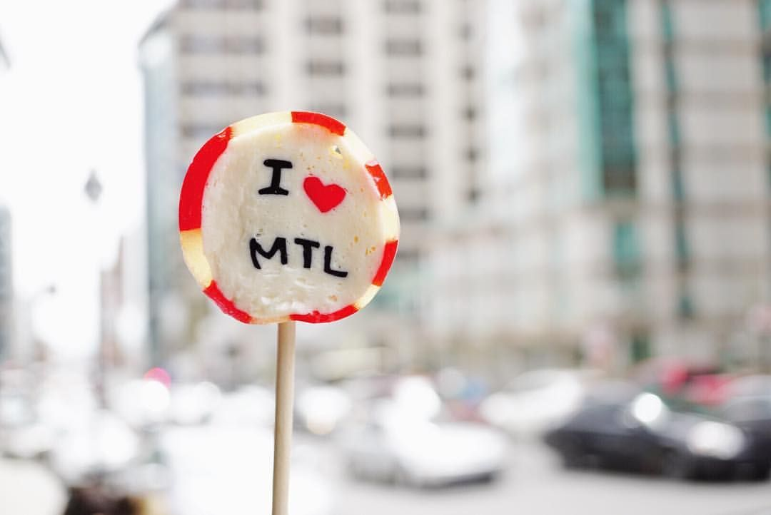 Je ♥️ Montréal.  I ❤️ Montreal.  #montreal#mtl#514#somontreal#livemontreal#mtlblog#mtlmoments#igersmontreal#concordia#rueguy#handmadecandy#candy#dessert#eventplanning#food#instadaily#eatplaylive#lovemontreal#lollipop#mtlcafecrawl#mtlblogger