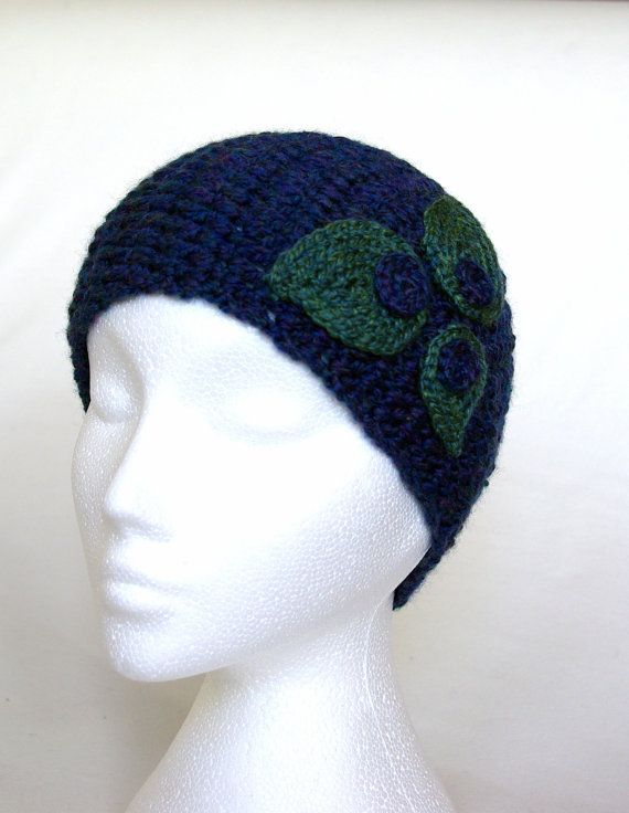 handmade crochet headband with leaves, head wrap, head scarf, ear ...