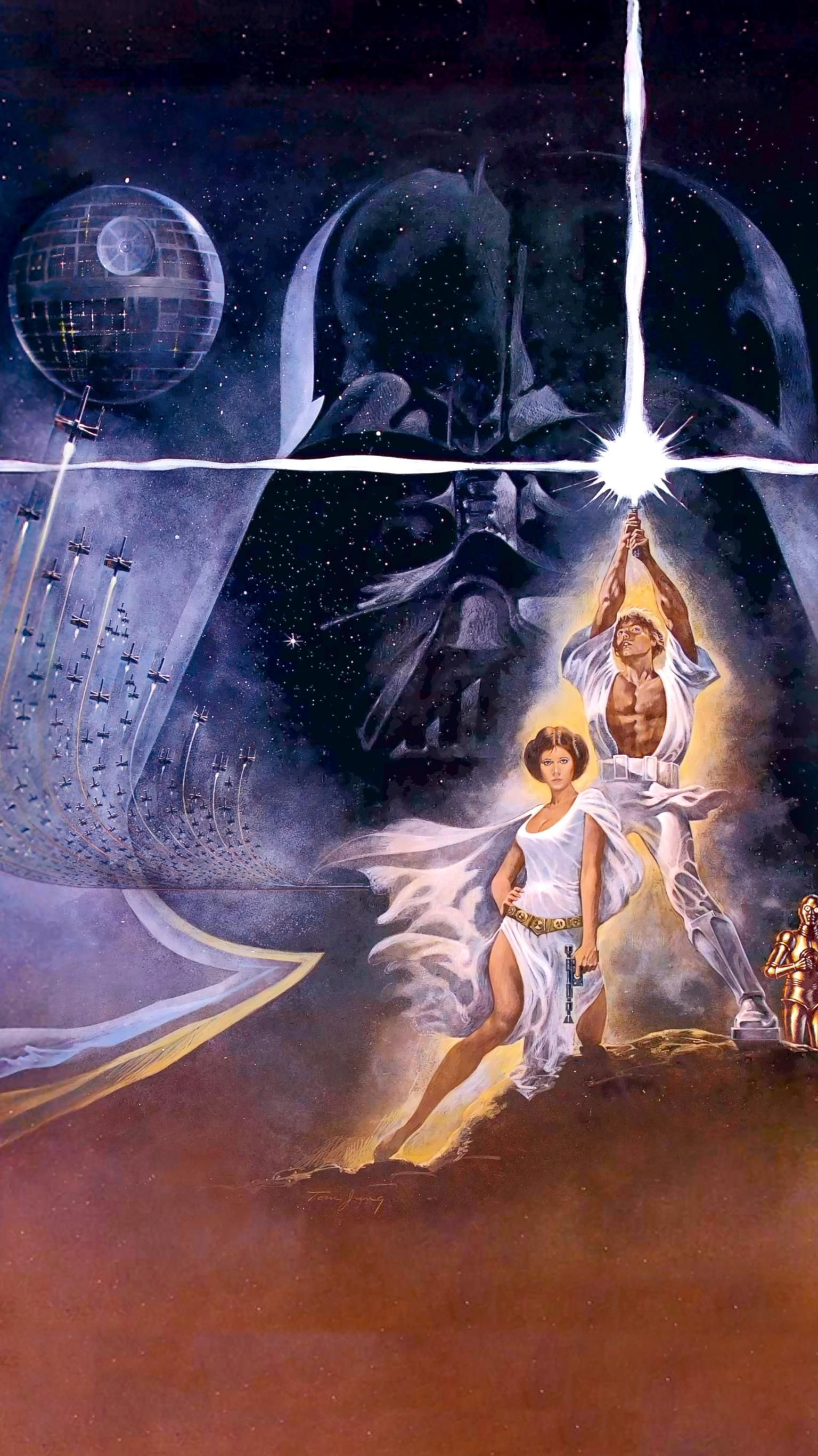 Star Wars 1977 Phone Wallpaper Moviemania Star Wars Poster Star Wars Art Star Wars Episode Iv